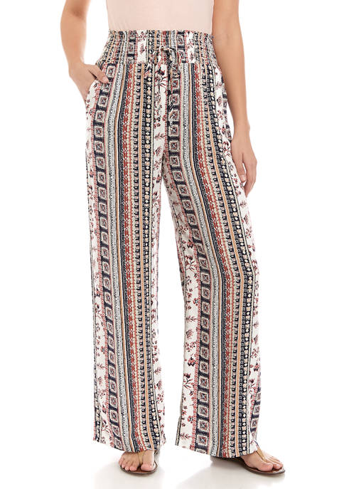 BeBop Juniors Printed Smocked Challis Pants