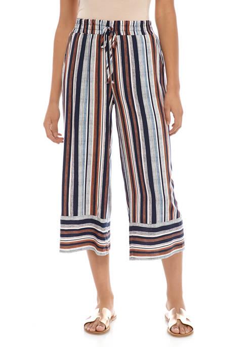 BeBop Juniors Stripe Challis Crop Pants
