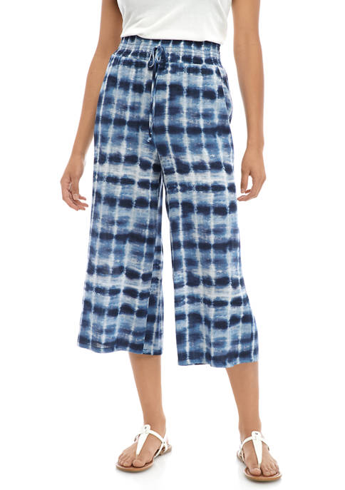 BeBop Juniors Tie Dye Challis Crop Pants