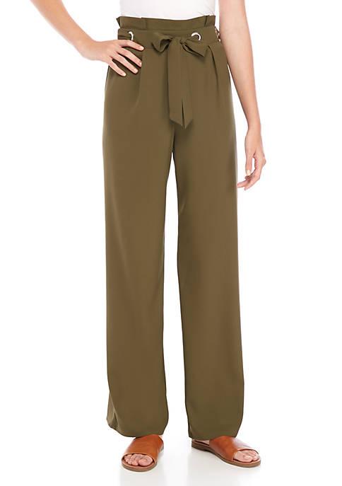 BeBop Grommet Self Belt Pants
