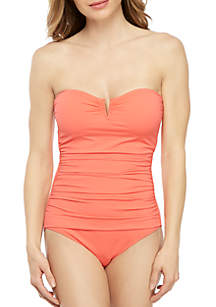 Tommy Bahama® Pearl V Wire Bandeau One Piece