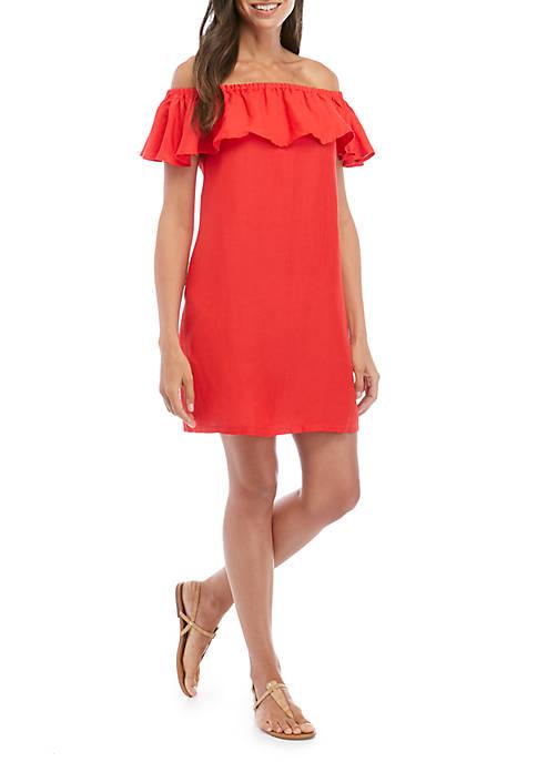 Swim Linen Off the Shoulder Dress