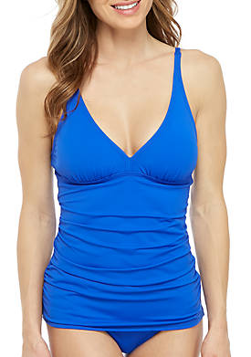 Pearl V-Neck Tankini Swim Top