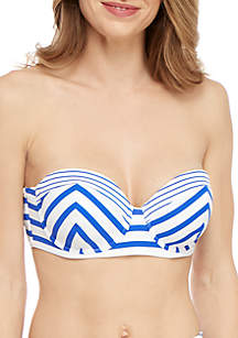 Tommy Bahama® Beach Glass Stripe Underwire Strapless Swim Bra