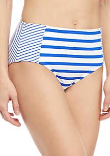 Tommy Bahama® Beach Glass Stripe High Waist Swim Bottoms
