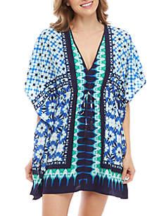23ef1885cd ... Tommy Bahama® Tie Dye Seashell Scarf Swim Cover Up Dress