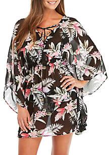 Tommy Bahama® Ginger Flowers Open Back Lace Swim Tunic