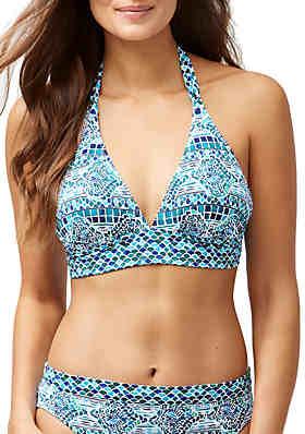 2ccde653de3f Tommy Bahama® Floral Isles Reversible Swim Halter Bikini Top ...