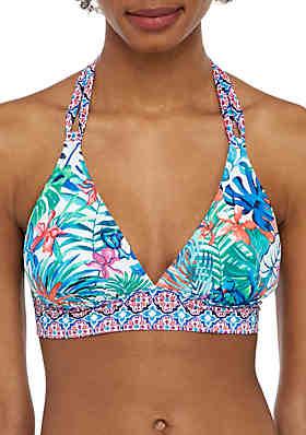 a2f59e0ae1 Tommy Bahama® Palm Party Reversible Halter Swim Bikini Top ...