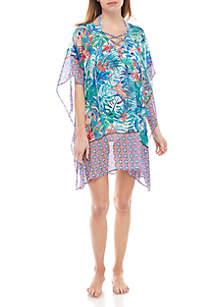 Tommy Bahama® Palm Party Lace Up Swim Tunic