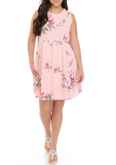 Eyeshadow Plus Size Ruffle Dress