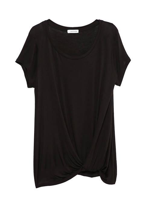 Eyeshadow Short Sleeve Twist Shirt