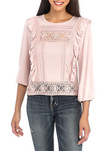 Crochet Ruffle Peasant Top