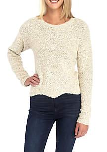 Popcorn Scallop Hem Sweater