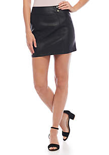 Retro Bodycon Faux Leather Skirt
