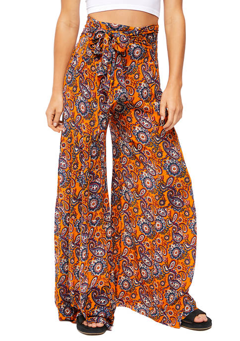 Free People Aloha Printed Wide Leg Pants