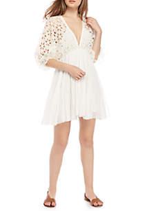 Bella Note Lace Trim Dress