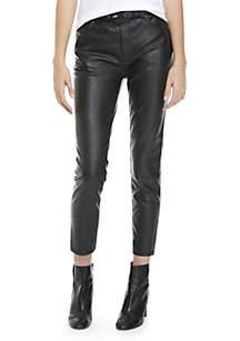 Belted Vegan Skinny Pants
