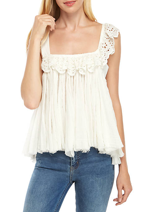 Free People Garden Party Eyelet Top