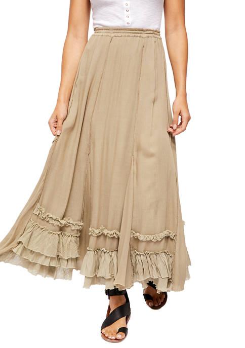 Free People Cypress Ruffle Skirt