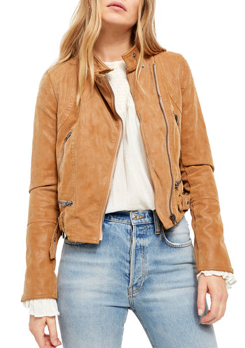 Free People Fenix Vegan Moto Jacket