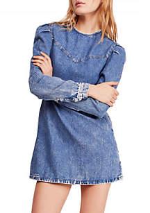 Free People Self Control Denim Mini Dress