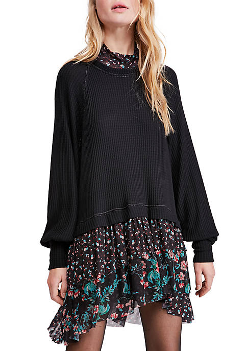 Free People Womens Opposites Attract Mini Dress