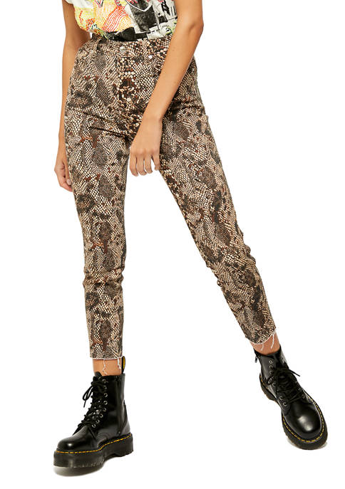 Free People Raw High Rise Printed Jeggings