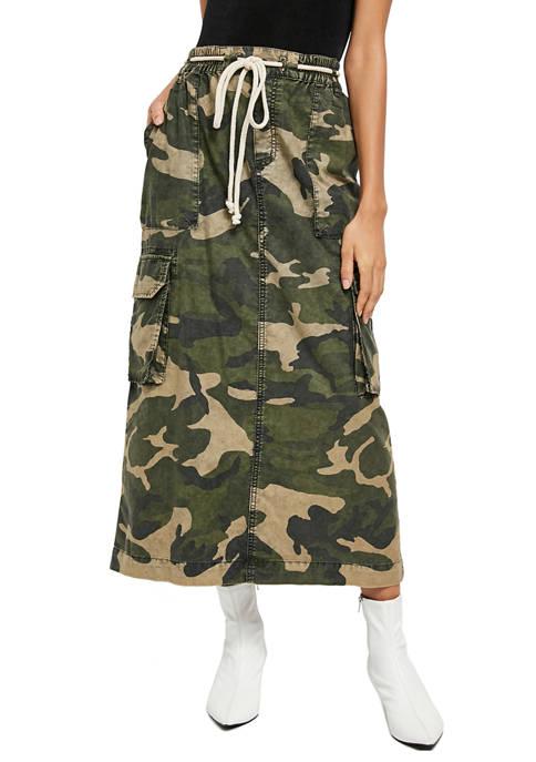 Free People Let Me In Printed Skirt