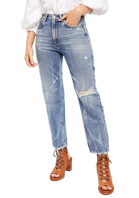 Free People Dakota Straight Leg Jeans