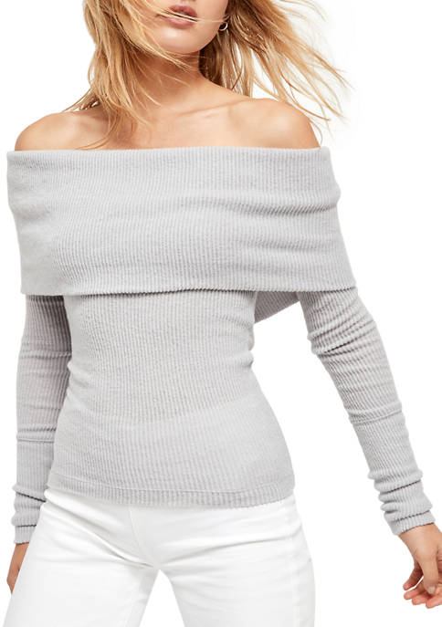 Free People Womens Snow Bunny Long Sleeve Top