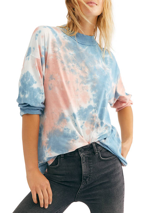 Free People Be Free Tie Dye Top