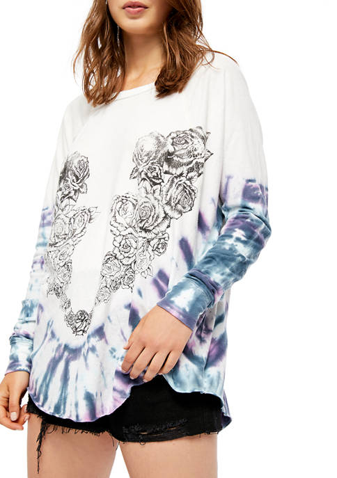 Free People Heart in a Rose T-Shirt