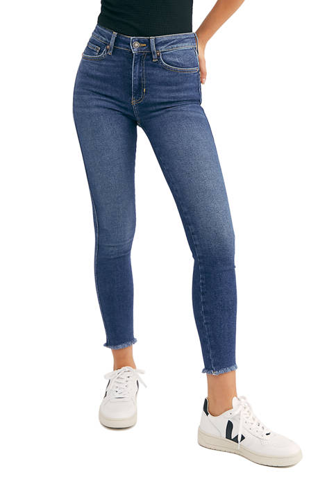 Free People Raw Edge High Rise Jeggings