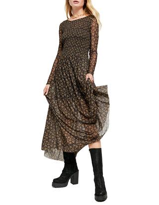 Free People Hello And Goodbye Mesh Midi Dress Belk