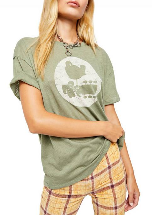 Woodstock Clarity Ringer Graphic T-Shirt