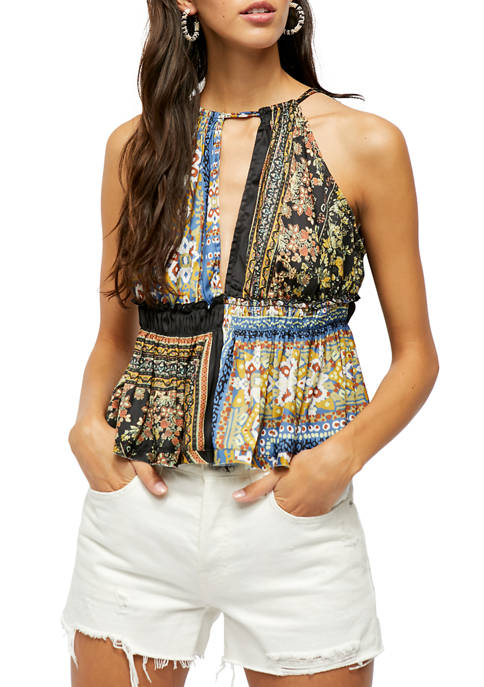 Free People Bellini Patchwork Tank Top