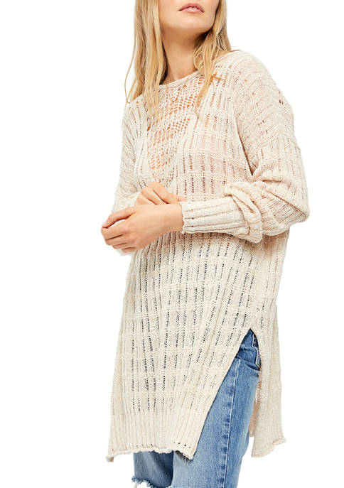 Free People Pretty in Pointelle Pullover