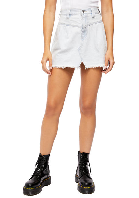 Free People Side Car Mini Skirt