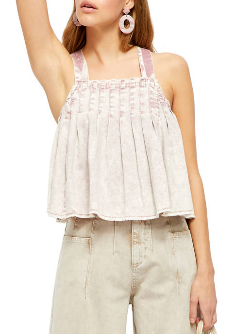 Free People Marina Denim Top