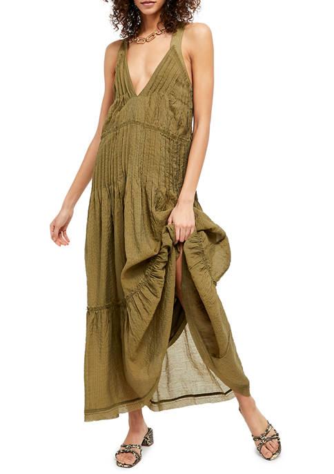 Frankie Pintuck Maxi Dress