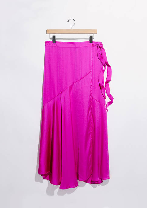 Free People Silky Wrap Skirt