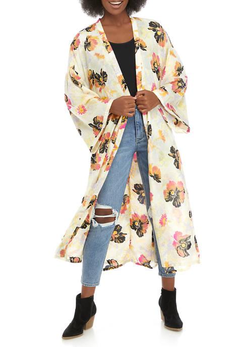 Free People Floral Duster Kimono