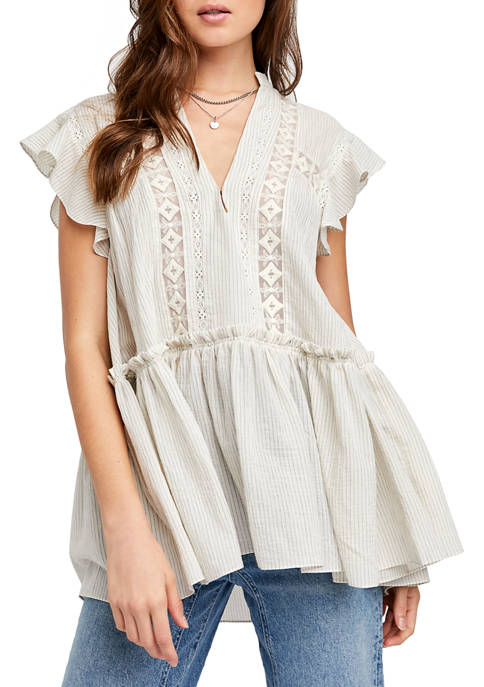 Free People Flutter Sleeve Tunic
