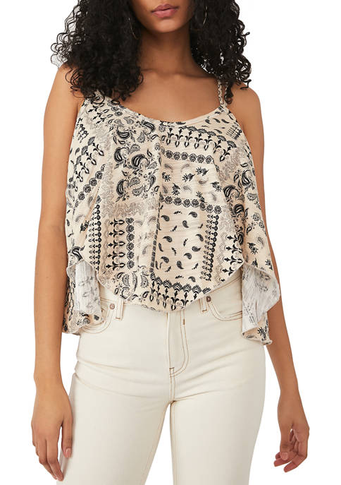 Free People Floral Cotton Tank