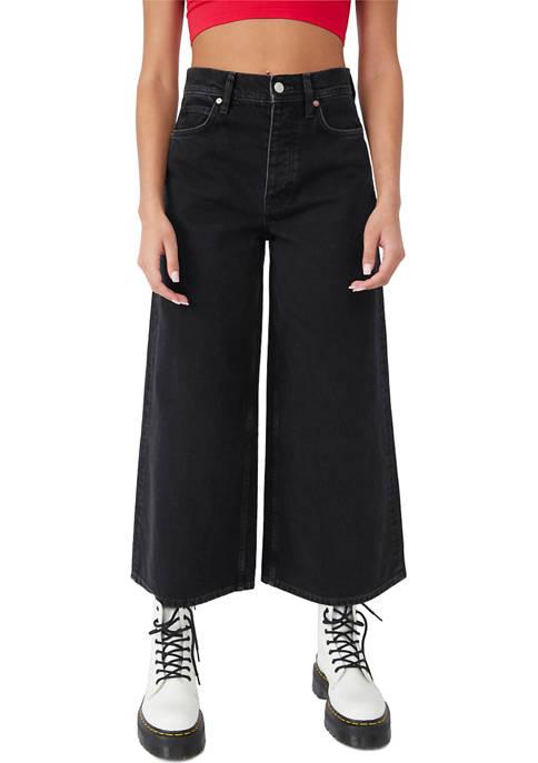 Free People Landry Wide Leg Cropped Jeans