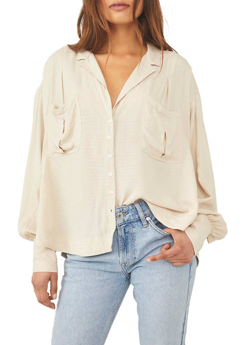 Free People Erins Button Down Shirt