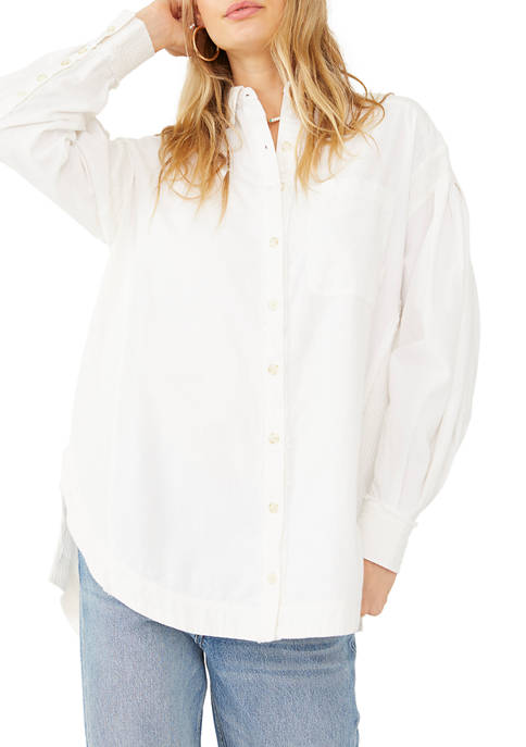 Free People Cool and Clean Button Down Solid