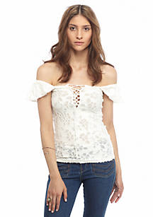 043c07fe412ad Free People. Free People Popsicle Off The Shoulder Top