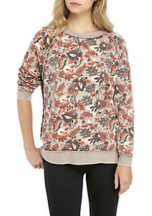 Go On Get Floral Pullover Sweater